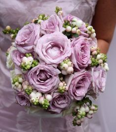 lilac, white and green