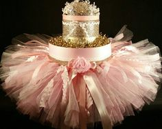 Pink and Gold DIAPER CAKE princess tiara tutu baby girl baby shower newborn baby birthday gift for her hair bow party mom nursery decoration Pink Diaper Cakes, Princess Diaper Cakes, Baby Princess Dress, Pink Princess, Nappy Cakes, Gold Birthday, Birthday Gifts For Her, Baby Birthday, Birthday Cake