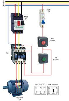 3 phase air compressor motor starter wiring diagram