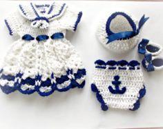 Costume de bébé au Crochet Oufit Baby Baby Dress par paintcrochet