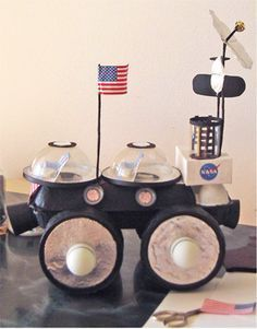 Paper projects, make a NASA space buggy. Space Activities For Kids, Space Crafts For Kids, Science For Kids, Moon Activities, Space Projects, School Projects, Projects For Kids, Science Projects, Space Party