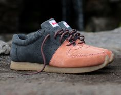 "Ronnie Fieg x Clarks Kildare – ""Salmon/Grey"" and ""Poppy Red"""