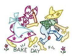 Bake Day: Ma & Pa ~ Hillbilly Town artfire.com