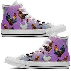 Do you just love chickens? This shoe is for all you chicken lovers out there. Strut your stuff. Check out all our chicken products now!