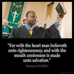 Romans 10:10 Bible Verse Pictures, Bible Verses Quotes, Bible Scriptures, Faith Quotes, King James Bible Online, King James Bible Verses, Bible King James Version, True Words, Word Of God