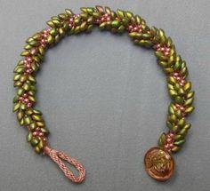 Kumihimo with Long Magatama Beads