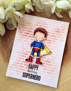 Happy birthday card, superhero birthday card, for him, for dad, for boyfriend, for husband, superhero, handmade card from my Etsy shop https://www.etsy.com/listing/508729848/happy-birthday-card-superhero-birthday