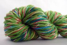 Love this tutorial on spinning new yarn using left over yarn scraps!!