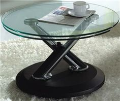 Tokyo Extending Round Leather Effect Coffee Table 252 00