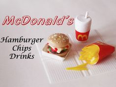 Debby Arts: McDonald's menù - Miniature Clay - Fimo tutorial