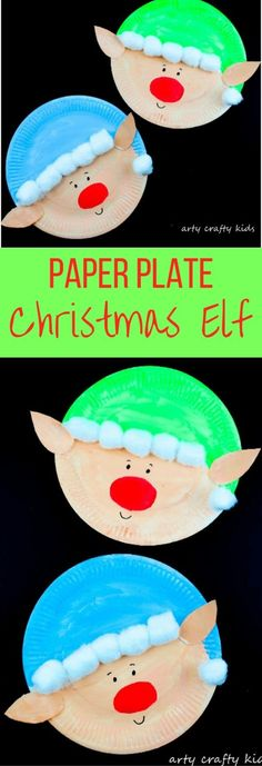 Arty Crafty Kids | Christmas Craft | Paper Plate Christmas Elf Craft | Super cute and easy paper plate Elf Craft for kids! #christmas #christmascraft #kidschristmascraft by pat-75