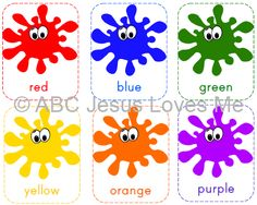 learning colors printable children s activities pinterest