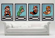 Super Mario Bros Costume Line Up Poster Set