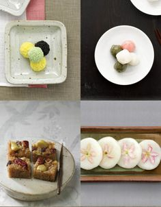 Tteok are rice cakes made from pounded rice and pounded glutinous rice. Some are made without pounding rice. It is served filled with red bean paste