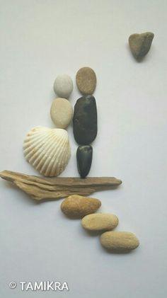 pin von tamikra pebbles art auf tamikra kunst mit stein kieselsteinbilder pebbles art. Black Bedroom Furniture Sets. Home Design Ideas