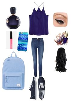 """""""Untitled #11"""" by nicmarb on Polyvore featuring beauty, Frame Denim, Vans, LORAC, Lacoste, Express, Uncommon and Herschel Supply Co."""