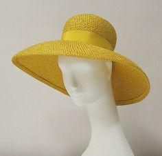 Hat | Cristóbal Balenciaga (Spanish, 1895-1972) | Date: ca. 1960 | Material: straw, silk | The Metropolitan Museum of Art, New York