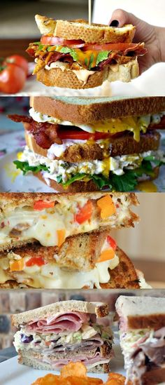 Sandwiches You Must Eat Before You Die - 23 Must-Make Sandwiches :: pinning a bunch of these to try later! Sandwiches You Must Eat Before You Die - 23 Must-Make Sandwiches :: pinning a bunch of these to try later! Sandwich Bar, Soup And Sandwich, Deli Sandwiches, Sandwich Ideas, Sandwiches For Dinner, Sandwich Pictures, Club Sandwich Recipes, Cucumber Sandwiches, I Love Food