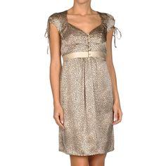 レオパード・キャップスリーブドレス #Party #Wedding #Dress #Gold