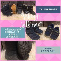 Meidän lapset käyttävät Viking-merkkisiä kenkiä