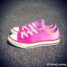 Valentines OMBRE TIE DYE Converse Dip Dye by LivingYoungDesigns, $85.00