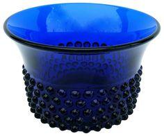 Scandinavian Modern Finnish Glass Bowl By Saara Hopea Cobalt Glass, Cobalt Blue, My Glass, Glass Art, Kind Of Blue, Scandinavian Modern, Glass Collection, Glass Design, Helsinki