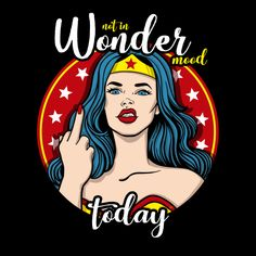 Not in wonder mood by Ursula Lopez metal posters Wonder Woman Funny, Wonder Woman Quotes, Wonder Woman Art, Superman Wonder Woman, Wonder Women, Wonder Woman Comic, Super Woman Quotes, Pop Art, Comic Art