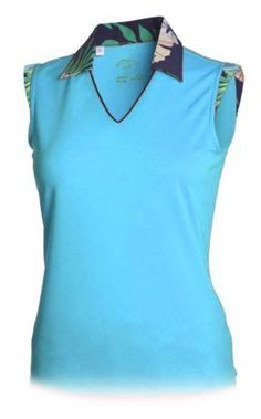 Summer  ladies golf clothing, still arriving daily at From the Red Tees:   Monterey Ceramic ...  Be the first to have!  http://www.fromtheredtees.net/products/copy-of-monterey-sleeveless-v-neck-polo-1?utm_campaign=social_autopilot&utm_source=pin&utm_medium=pin