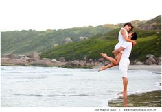 Flávia e Leonardo | sessão casal | Praia do Rosa | http://www.maykolnack.com.br/blog