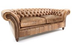 The Graduate 3 Seat Leather Chesterfield Sofa Bed from Old Boot Sofas