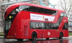 The new 'Routemaster' bus for London, designed by Thomas Heatherwick New London, London Bus, London Street, Oyster Card, London Transport, Public Transport, New Routemaster, Double Decker Bus, New Bus