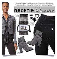 """Necktie Blouse"" by captainsilly ❤ liked on Polyvore featuring Equipment and STELLA McCARTNEY"