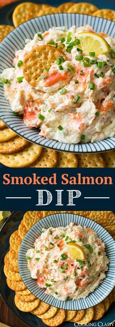 Seattle Smoked Salmon Dip - so easy SO good! Tastes like a cheeseball but better!