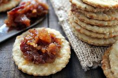Grits Crackers with Bacon Jam...brunch recipe?