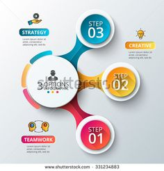 Vector elements for infographic. Template for diagram, graph, presentation and chart. Business concept with 3 options, parts, steps or processes. Abstract background. - stock vector