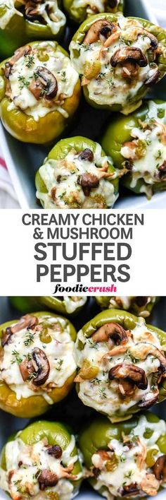 Low Carb Recipes To The Prism Weight Reduction Program Creamy Chicken And Mushroom Stuffed Peppers Recipe Vegetarian Recipes, Cooking Recipes, Healthy Recipes, Vegetarian Cooking, Paleo Food, Paleo Pizza, Vegetarian Lunch, Healthy Meals, Hacks Cocina