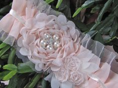 Aurelia Soft and light pink chiffon flowers on a by kgdesign, $24.50