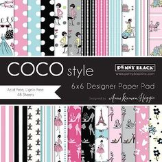 """Penny Black Paper Pad 6""""x6"""" - Coco Style"""