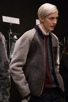 Carpet bomber backstage at Fendi AW15 Milan. See more here: http://www.dazeddigital.com/fashion/article/23288/1/fendi-aw15