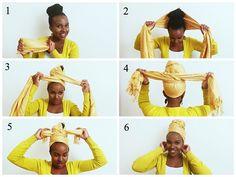 étapes turban | Il nécessite 2 longs turbans ou foulard (minimum 1 yard).