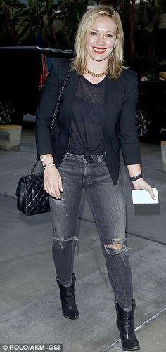 Grey and black a la Hilary Duff