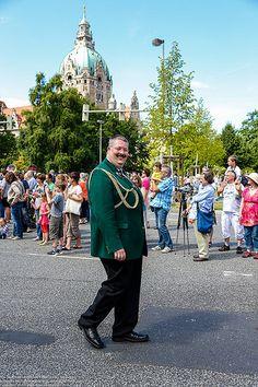 485.Schützenfest in Hannover 2014 Schützenausmarsch am 06.07.2014 3. Zug Gelbe Standarte
