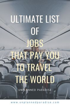Do you wish you could travel more? Wondering how others maintain a life full of travel? Find out how I make money while traveling, how other travelers get paid and how you can do it too! Travel Careers, Travel Jobs, Work Travel, How To Make Money, How To Get, List Of Jobs, Cabin Crew, Flight Attendant, Study Abroad