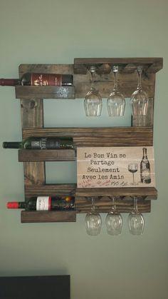 Support bouteille de vin