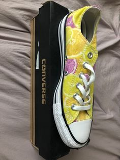 46b3afb2353 fruit slices lemon oranges converse women size 7.5  fashion  clothing   shoes
