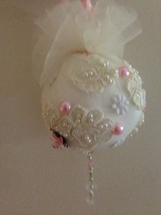Shabby Chic Ball for a Swap. by ilovepapillons (Glenda)