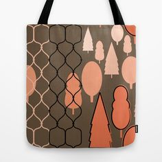 Fency Forest Tote Bag by patterndesign - $22.00