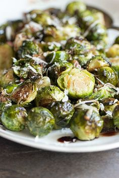 Roasted Brussels Sprouts with a Balsamic Glaze