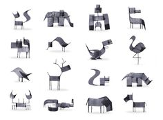 With just a few strokes of his calligraphy pen, London-based designer and illustrator Andrew Fox created this fun series of minimalistic animals. What a great exercise in the constraints of line and color, perhaps most famously illustrated in a similar exercise by Picasso back in the 1940s. See