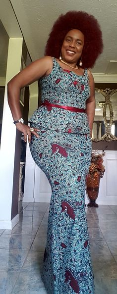 My dram dress Latest African Fashion Dresses, African Dresses For Women, African Print Fashion, African Attire, African Print Dress Designs, Ankara Short Gown Styles, African Traditional Dresses, Kitenge, Dream Dress